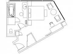 Panoramic-Corner-King-Room-floor-plan-The-Prince-Parktower-Tokyo